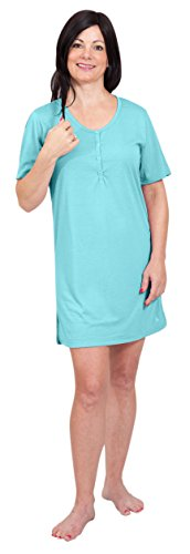 Cool-jams Moisture Wicking Button Front Nightshirt(S-XL)