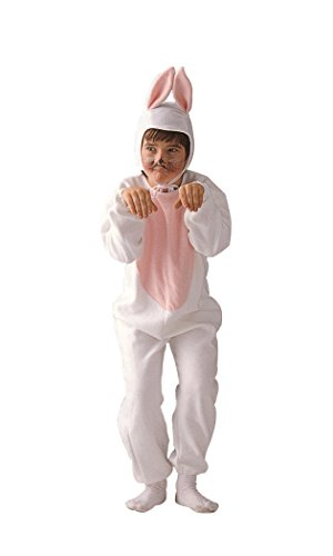 Child Small 4-6 for 4-6 Yrs - ECONOMY Bunny Costume (Ears do NOT stand up as pictured) -