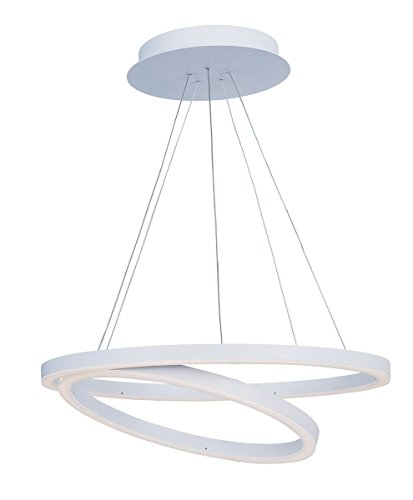 Pendant Cirque Collection (Pendants 1 Light With Matte White Finish Acrylic Aluminum Material LED Bulb 24 inch 67 Watts)