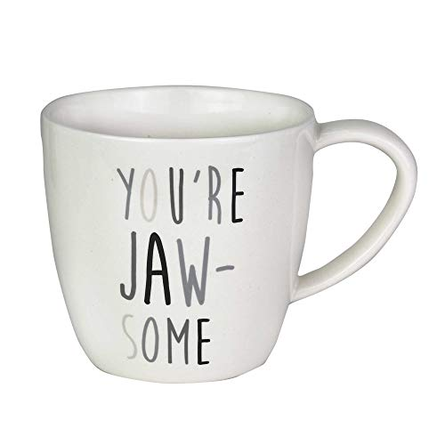 - Enesco 6003679 Our Our Name is Mud Jaw-Some Shark Figurine Coffee Mug, 16 oz, White