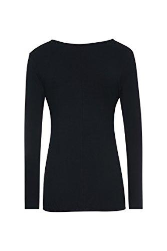 Bellybutton, Camiseta de Manchas Largas Premamá para Mujer Schwarz (stretch Limo|black 1390)