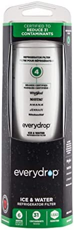 EveryDrop through Whirlpool Refrigerator Water Filter 4, EDR4RXD1, Pack of one