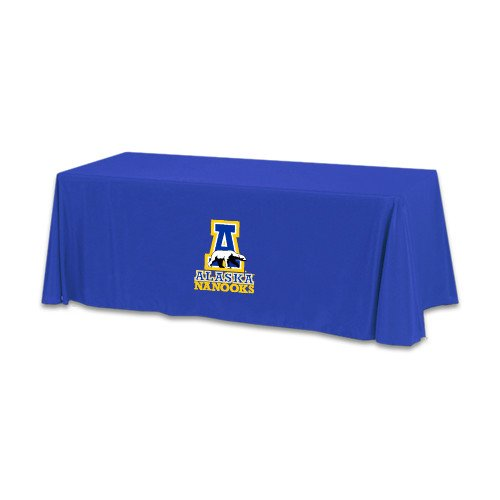 Alaska Fairbanks Royal 6 foot Table Throw 'Official Logo' by CollegeFanGear