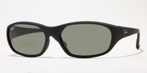 RAYBAN Daddy-O W2578, Gafas de Sol para Hombre, Negro (Matte Black/Crystal Green), 59