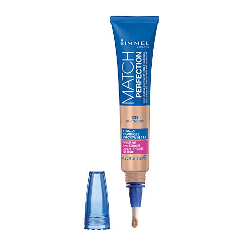 Rimmel Match Perfection 2-in-1 Concealer and Highlighter, Light Medium, 1 Count