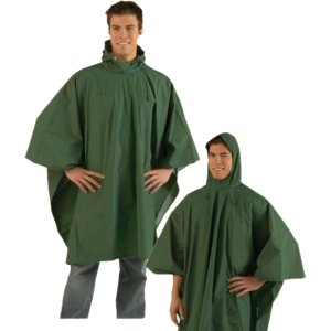 Adult Heavy Duty Reusable Rain Poncho Raincoat Waterproof Rainwear with Hood One Size Fits All by Texsport