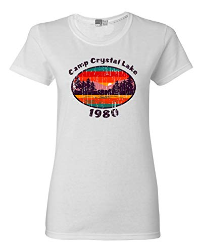 Beach Open Ladies Camp Crystal Lake 1980 Halloween Costume Fan Wear DT T-Shirt Tee (X-Large, -