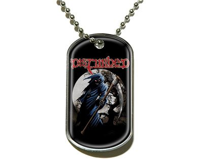 Disturbed Dog Tag with Chain (Official Licensed -