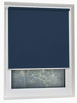 SCHRLING Blackout No Drilling Navy Blue Roller Shades Thermal Insulated Blinds Custom Size Width 14 -47 Height 14 -63