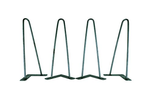 """Narrow Hairpin Legs, Multiple Sizes, 3/8"""" Solid Steel, Set o"""