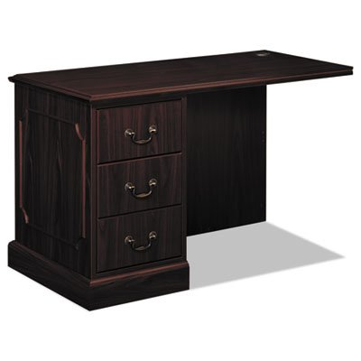 94000 Series ''L'' Workstation Left Return, 48w x 24d x 29-1/2h, Mahogany, Sold as 1 Each by Generic