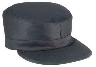 ROTHCO RANGER FATIGUE CAP / MAP POCKET - Black