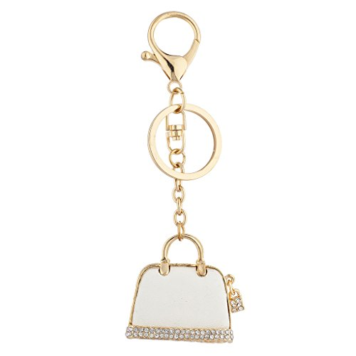 Lux Accessories Goldtone Mint Pave Rhinestone Novelty Purse Bag Charm Keychain