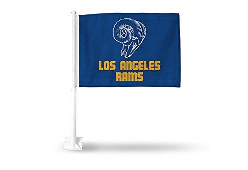 NFL Los Angeles Rams Car Flag, Blue, with White Pole Rico Industries Inc. FG30RETRO