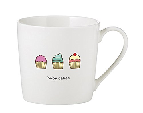 Cafe China - SIPS Drinkware Baby Cakes Cafe Mug Bone China Coffee Cup, 14 Ounce
