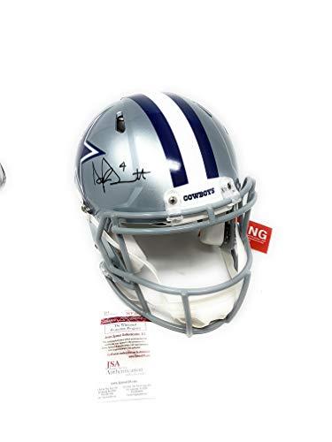 Dak Prescott Dallas Cowboys Signed Autograph Full Size Authentic On Field Speed Helmet DAK Hologram & JSA Witnessed Certified