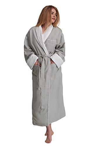 Cocoral Microfiber Terry Cloth Spa Bath Robe Women's Mens (Unisex), Small
