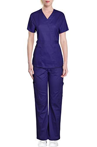medical scrub set drawstring waist
