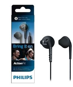Philips SHQ1200 ActionFit Sports In-Ear Headphones(without mic),Black