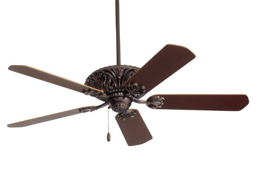 Emerson Oak Ceiling Traditional Fan - Emerson Ceiling Fans CF935ORB Zurich 52-Inch Indoor Ceiling Fan, Light Kit Adaptable, Oil Rubbed Bronze Finish