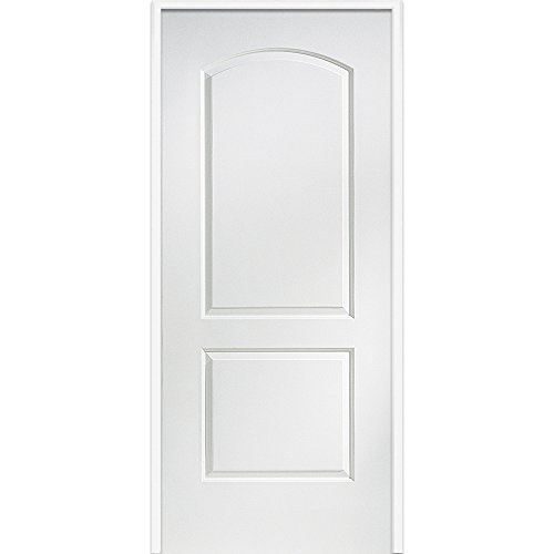 National Door Z0364403L  20-Minute Fire Rated MDF Door, Primed, Left-Hand/Inswing, 2-Panel Archtop, 32''x80'' by National Door Company