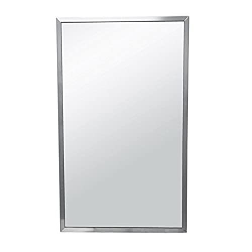 Brey Krause Commercial Restroom Mirror   18 Inches Wide By 30 Inches Tall