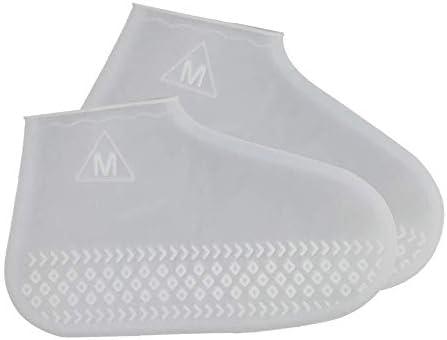 WANLU シューズカバー 靴カバーアウトドアシリコンシューズカバー 泥除け 防水 雨 雪 滑り止め 梅雨対策 通勤 通学 自転車 軽量携帯便利 男女兼用 子供も適用 (Color : D, Size : S(26~34))