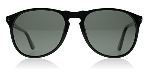 Persol Unisex PO9649S - Size 55 - Polarized Black/Crystal Green Polarized
