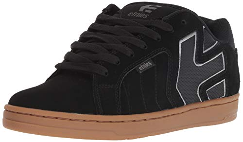 Etnies Mens Skateboard Shoe - Etnies Men's Fader 2 Skate Shoe, Black/Grey/Gum, 11 Medium US