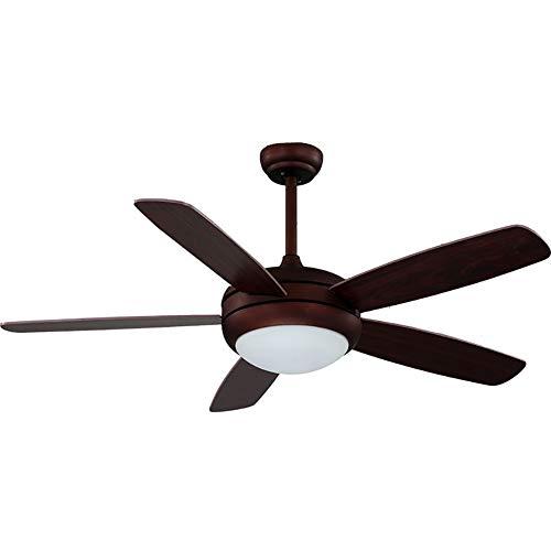 (CSDM.AI Vintage 48 Inch LED Ceiling Fan Light, Modern Ceiling Fan with Light 5 Wood Fan Blade for Living Room,B,Wallcontrol)