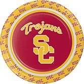 (Pack of 96 NCAA USC Trojans Round Tailgate Party Paper Plates 7