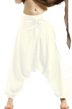 Kundalini de Color Blanco Pescador Pantalones de Yoga ...