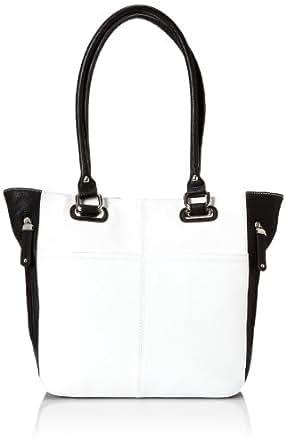 Tignanello Perfect Packets Tote Shoulder Bag,White/Black,One Size