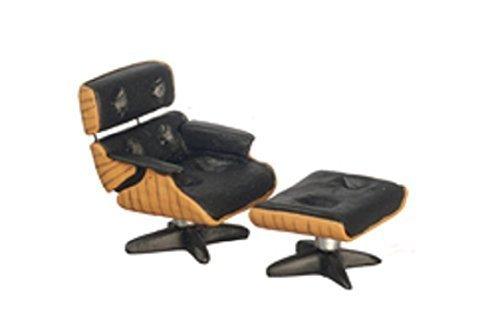Melody Jane Dollhouse Designer Lounge Chair /& Ottoman 1:24 Half Inch Scale