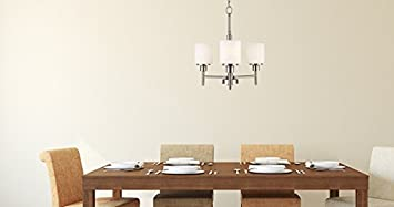 Design House 556647 Aubrey 3 Light Chandelier, Satin Nickel