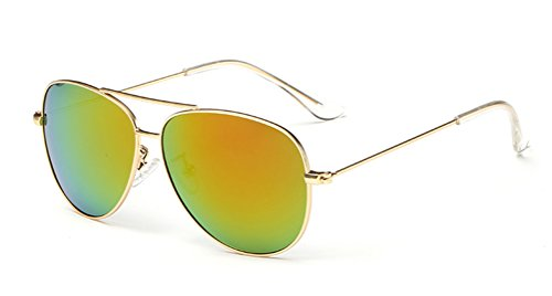 GAMT Fashion Polarized Aviator Sunglasses for Children Orange