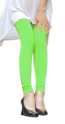 AM CLOTHES Summer Fall Skinny Solid Color Maternity Capris Leggings Pants Lawn Green