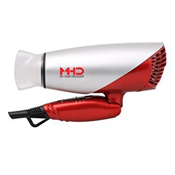 1875w Hair Dryer Dual Voltage Blow Dryer Dc Motor Foldable Handle Negative Ionic Function Speed Settings (hight-off-low) Cool Shot Button Ceramic Tourmaline Air Outlet Grill 1.8m Salon Power Cord
