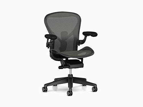 Herman Miller AER1B22AWALPG1G1G1BBBK23103 Aeron Chair, B, Graphite