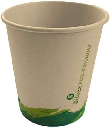 Silvex Pack 100 Vasos de cartón biodegradables 210cc Vaso ...