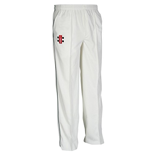 (Gray Nicolls Mens Matrix Cricket Pants/Trousers (L) (Ivory/Navy))