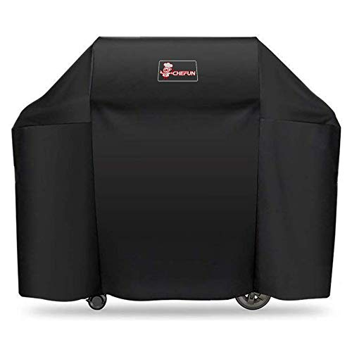 CHEFUN 7130 Grill Cover for Weber Genesis II 3 Burner Grill and Genesis 300 Series,58 Inch Gas Grill Cover Heavy Duty UV & Waterproof & Weather Resistant Outdoor BBQ Cover