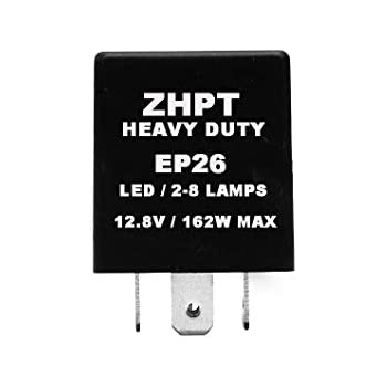 Compatible for LED and Standard Bulb Replaces PN 56009339 ZHParty Compatible with 1997 1998 1999 2000 JEEP TJ Wrangler Turn Signal Electronic Flasher Relay