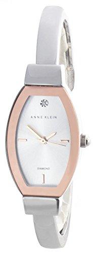 Anne Klein Women's Silver Tone Dial Metal Bangle Bracelet Watch AK/2553SVRT
