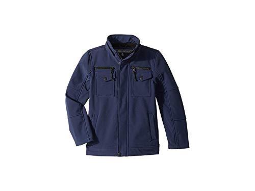 Urban Republic Kids Boy's Karl Softshell Officers Jacket w/Zip Off Hood (Little Kids/Big Kids) Navy 4 US Little Kid