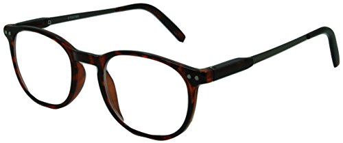 (In Style Eyes Wall Street II, Stylish Classic Look Spring Hinged Reading Glasses Tortoise)