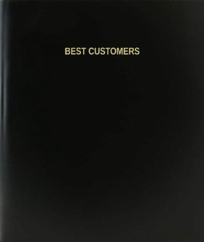 BookFactory® Best Customers Log Book / Journal / Logbook - 120 Page, 8.5''x11'', Black Hardbound (XLog-120-7CS-A-L-Black(Best Customers Log Book)) by BookFactory