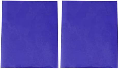 Artibetter 2枚の熱転写フィルムPVCホット印刷フィルムDIY Tシャツ布バッグ用品ブルー