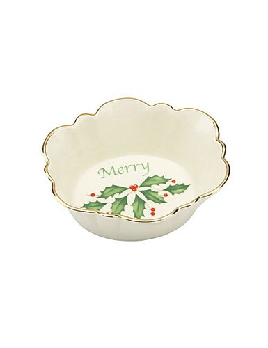 (Lenox Holiday Oval Merry Dish)