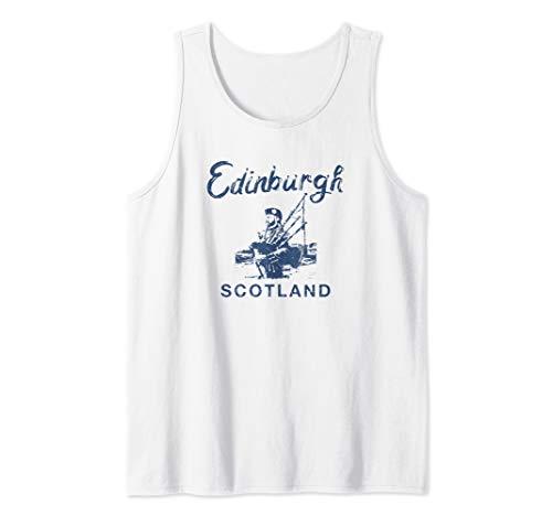 Edinburgh Scotland Scottish Bagpipes Vintage Graphic  Tank Top